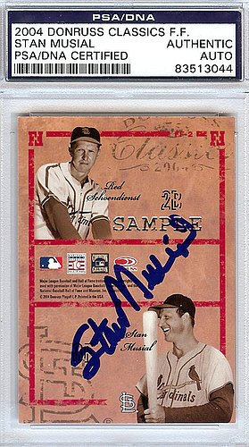 Stan Musial Signed 2004 Donruss Classics Famous Foursomes Card St. Louis Cardinals - PSA/DNA Authentication - Autographed MLB Baseball Cards