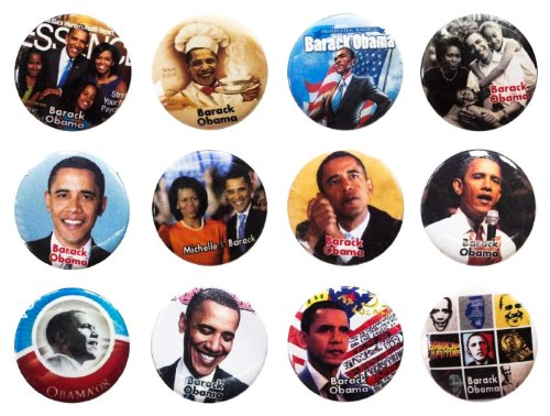 Michelle Barack Obama (2) Awesome Quality Lot 12 New Pins Buttons Badge 1.25