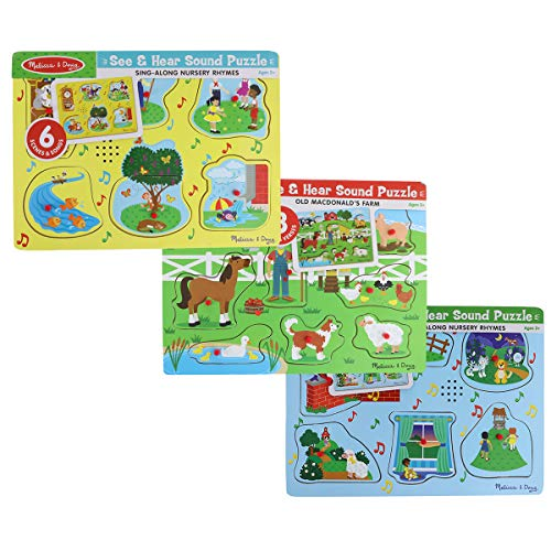 Sing-Along Nursery Rhymes and Old MacDonald's Farm Sound Puzzle Bundle (Set of 3)