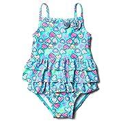 ATTRACO Baby Girls one Piece Swimsuit Ruffle Beach Swimwear Blue 0-6 Months