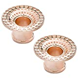 Steel Navel Body Jewelry Pair of Rose Gold Plated Double Flared Black Hole Eyelets: 5/8''
