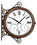 Double Sided Station Clock - 38cm (15'')