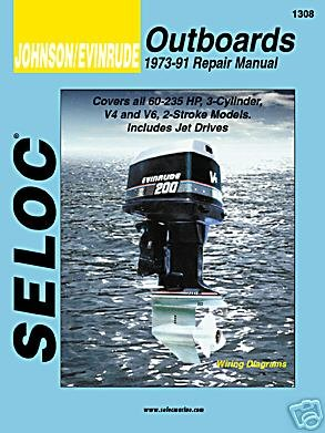 Seloc Service Manual - Johnson/Evinrude - 3, 4, 6 Cyl - 1973-91