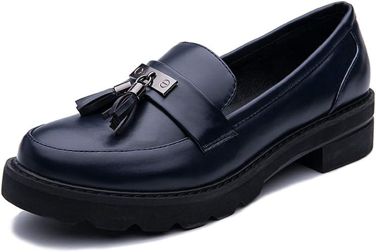 Zapatos Oxford para Mujer Deslizamiento cómodo en Tacones Bajos ...