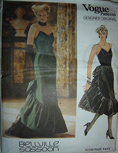 vogue-patterns-designer-original-bellville-sassoon-sewing-pattern-1471-misses-dress-sz-12