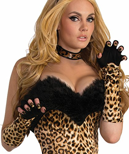 Forum Novelties Leopard Costume Women Gloves