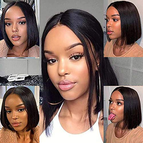 VRZ 13x6 Lace Front Wigs Bob Straight Human Hair Short Wigs for Women Lace Frontal Wigs Pre Plucked with Baby Hair (8 Inch)