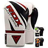 RDX Boxing Gloves Punch Bag Maya Hide Leather Mitts Sparring Punching Training Kickboxing Muay Thai Martial Arts