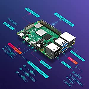LABISTS Raspberry Pi 4 8GB RAM Starter Kit with 64GB Micro SD Card (8GB RAM)