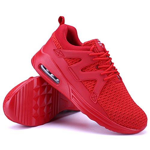 de D'Air wealsex Running Fitness Respirant Chaussures Homme de 46 Gym Chaussures Outdoor Mesh 39 Coussin Rouge Multisports Sports Baskets 7wf6r7qA