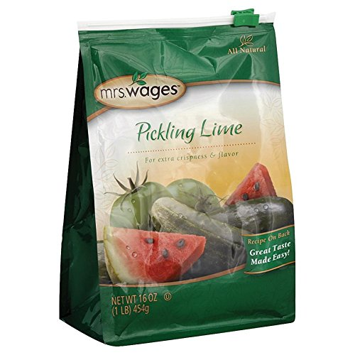 Mrs. Wages Pickling Lime (1-Pound Resealable Bag) - Key Lime Mustard Sauce