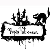 kitchen 67 happy hour Hot ! Ninasill Exclusive Happy Halloween Home Household Room Wall Sticker Mural Decor Decal Removable New (Black)