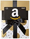 Amazon.com $25 Gift Card in a Gold Reveal (Classic Black Card Design)