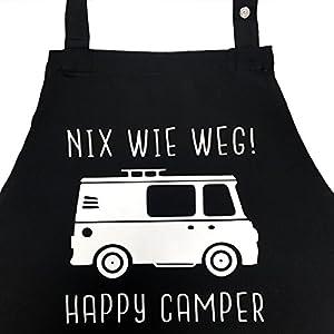 51YcHpgM8KL. SS300 Nix wie Weg - Happy Camper - lustige Grillschürze für Männer, Kochschürze - Geschenkidee Camper, Wohnmobil, Zubehör…