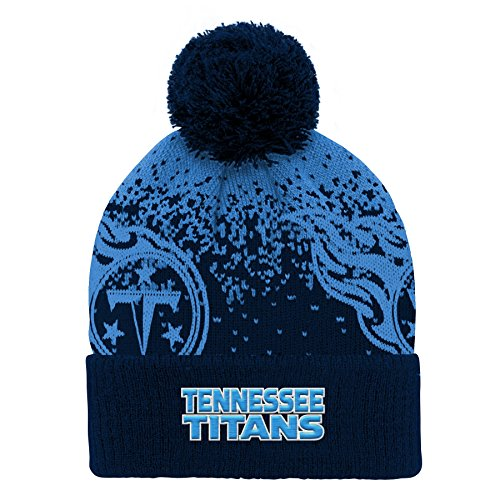 - Outerstuff NFL Tennessee Titans Youth Boys Gradient Jacquard Cuffed Knit Hat Dark Navy, Youth One Size