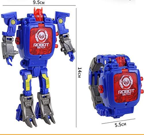 WANGQW Kinderuhr Spielzeug Transformers Roboter Student Cartoon Elektronische Uhr Junge Puzzle 3-6 Jahre Alt