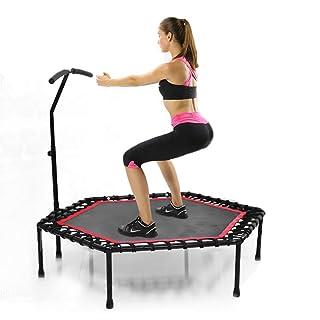 SVNA Trampolino Fitness Trampolino Sportivo Carico Staccabile Esagonale 250kg per Adulti e Bambini in Palestra Domestica