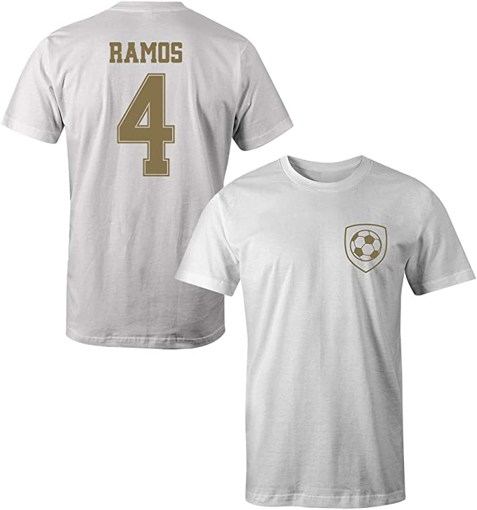 Sporting Empire Sergio Ramos 4 - Camiseta del Real Madrid: Amazon ...