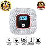 Voice Warning CO Alarm Detector, Dustproof Carbon Monoxide Monitor Warning Alarm Sensor Detector with Digital LCD Display for Home Security (Batteries Not Included)