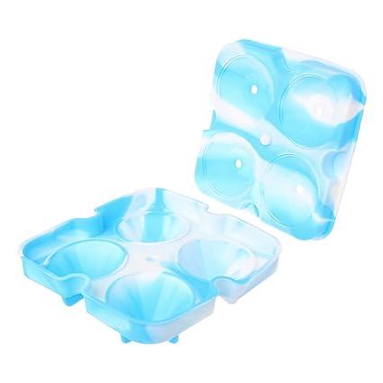 Lamdoo - Molde para Cubitos de Hielo en Forma de Diamante 3D, 4 Celdas,