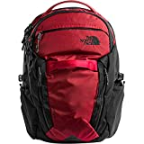 The North Face Unisex Surge Backpack Rage Red Ripstop/Tnf Black One Size