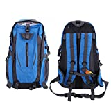 Batsomer Waterproof Outdoor Climbing Backpack Men Women Camping Hiking Athletic Travel Backpack Unisex Climbing Sport Bags Blue Color