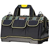 Tool Bag 16inch with PVC Base Tool Storage Bag Multi-Functional Large Capacity Waterproof Tool Tote Bag for Electricians…