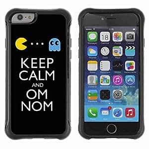 "A-type Arte & diseño Anti-Slip Shockproof TPU Fundas Cover Cubre Case para 4.7"" iPhone 6 ( Keep Calm & Om Nom )"