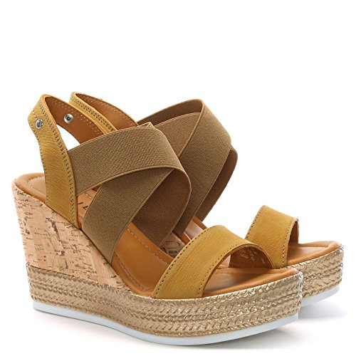 DF By Daniel Lasty Yellow Suede Cork Wedge Sandals Yellow Suede ssQ0uTo