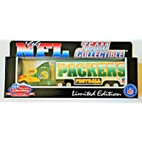 $24 » 1999 White Rose Collectibles NFL GREEN BAY Team Collectible 1:80 Scale Diecast Replica Kenworth Tractor Trailer Transporter…