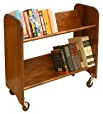 Catskill Craftsmen Rol-Rack with Tilted Shelves, Walnut Stained Birch