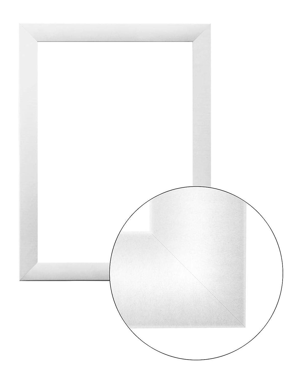 Framo36 Luxus 70 cm x 140 cm MDF Holz Bilderrahmen in Farbe Weiß matt