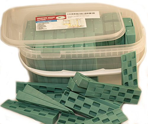 Plastic Wedge - for Using as Door Wedges, Window Wedges, Flooring Spacers - Universal Plastic Shims - 4.5