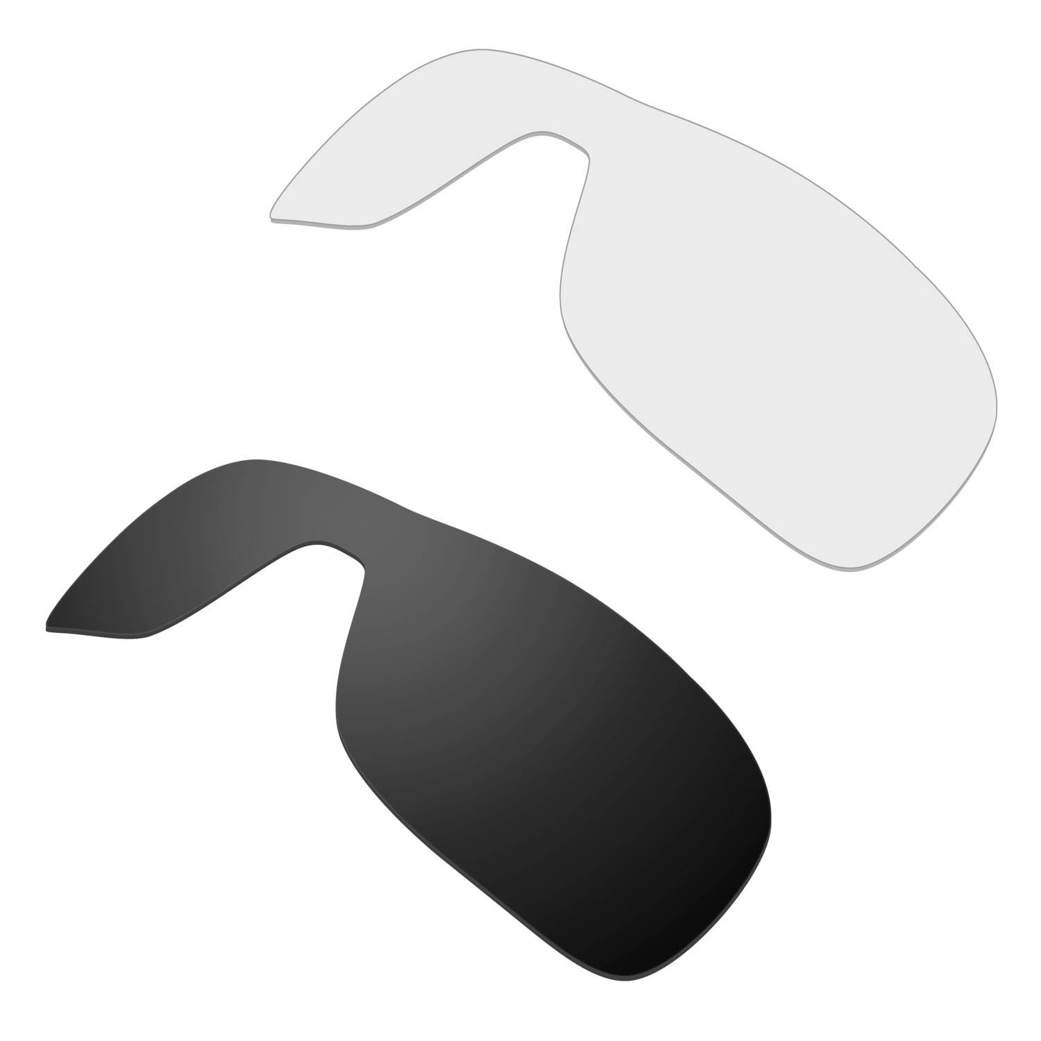 b66c131f8ff Amazon.com  HKUCO Mens Replacement Lenses for Oakley Turbine Rotor Sunglasses  Black Transparent Polarized  Sports   Outdoors