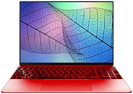 【 2010 Office】 15.6 inches 1.5 kg Narrow Frame 6 GB / 64 GB High Speed Intel J 3455 Silent CPU Thin Type Light Weight High Performance Laptop Computer with Wireless Mouse (64GB, Red) 51YcJYOdVzL
