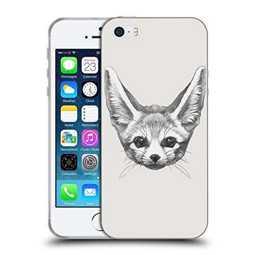 GoGoMobile Coque de Protection TPU Silicone Case pour // Q05230631 Fennec fox Platine // Apple iPhone 5 5S 5G SE