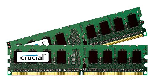 Price comparison product image Crucial 2 GB Kit (2 x 1GB) DDR PC3200 UNBUFFERED NON-ECC 184-PIN DIMM