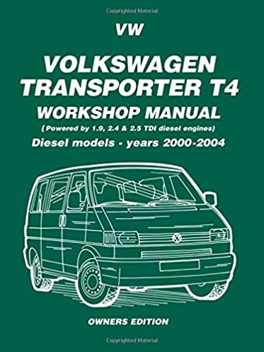 volkswagen transporter t4 workshop manual diesel models 2000 2004 rh amazon co uk vw transporter maintenance manual vw transporter maintenance manual