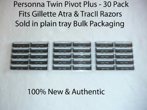 Personna - Twin Pivot Plus (30 Pack), Replaces Auto Plus - Fits Atra razors