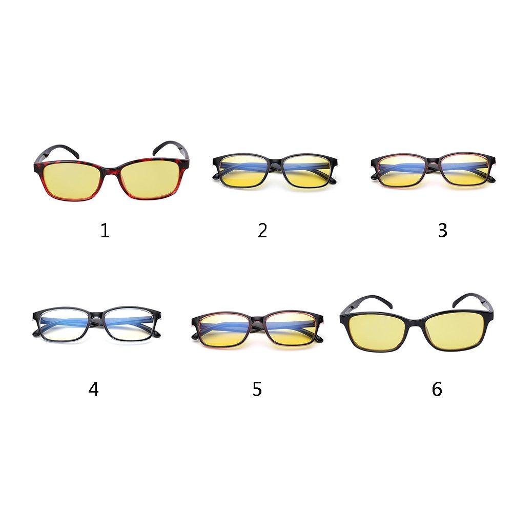 HMOCNV - Gafas de seguridad para ordenador, gafas planas antifatiga de radiación antiniebla, color azul, style 3: Amazon.es: Deportes y aire libre