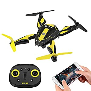 Cheerson CX-40 RC Drone with Camera for Kids Adult Beginner, 2.4G 6 Axis Foldable RC Quadcopter WiFi FPV Drone 0.3MP Headless Mode, Flips & Rolls Remote Control One Key Start (Battey Included),Frog 51YcKNnQMWL