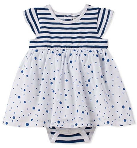 absorba Baby Girls Sunsuit, Navy 3-6 Months