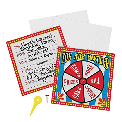 (Fun Express Carnival Spinner Invitations Party Accessory, 12)