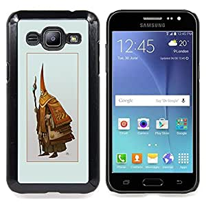 "Qstar Arte & diseño plástico duro Fundas Cover Cubre Hard Case Cover para Samsung Galaxy J2 / J200 (Asistente Viejo"")"