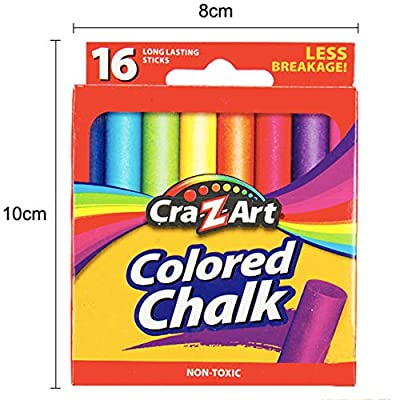 Chelsil Sidewalk Chalk for Kids Toddlers 16 Pieces 7 Assorted Colors Washable Sidewalk Chalk Non Toxic Outdoor Chalk Outside ,Gift for Girs and Boys: Toys & Games