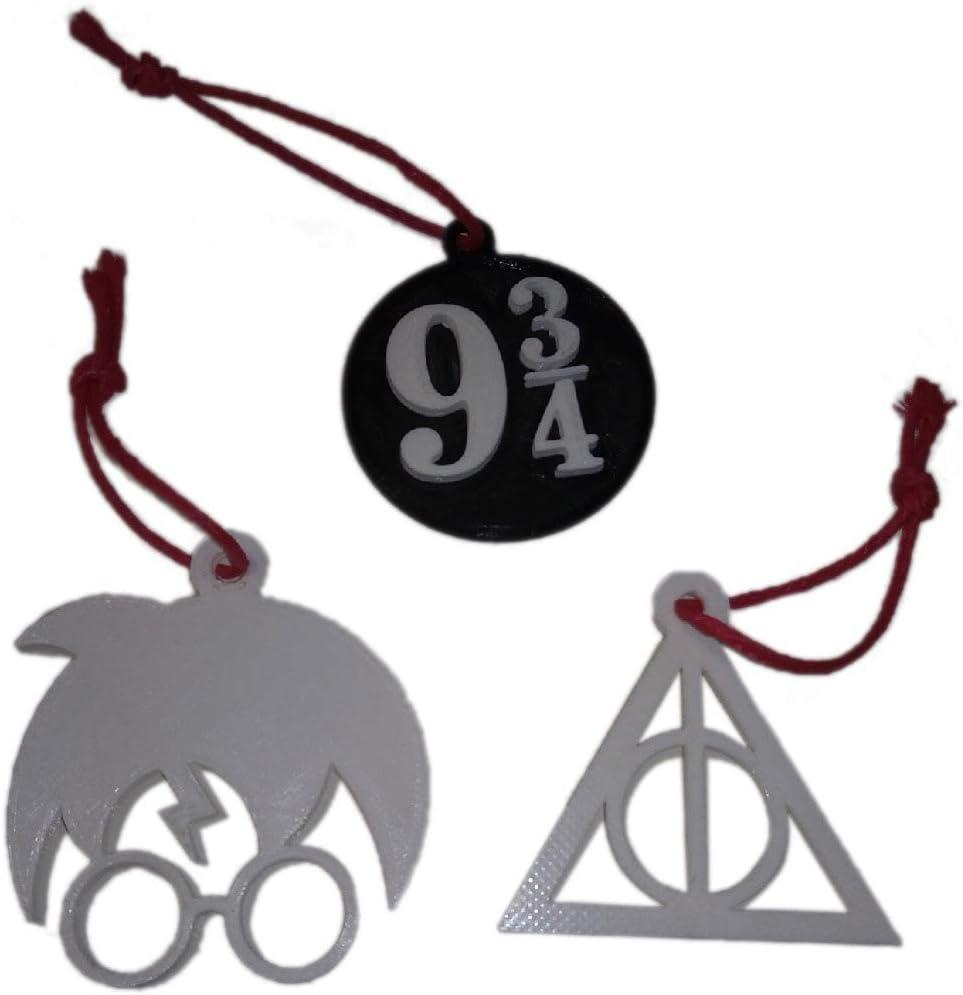 AKARURE Pack 3 Adornos de Navidad de Harry Potter: Amazon.es: Hogar