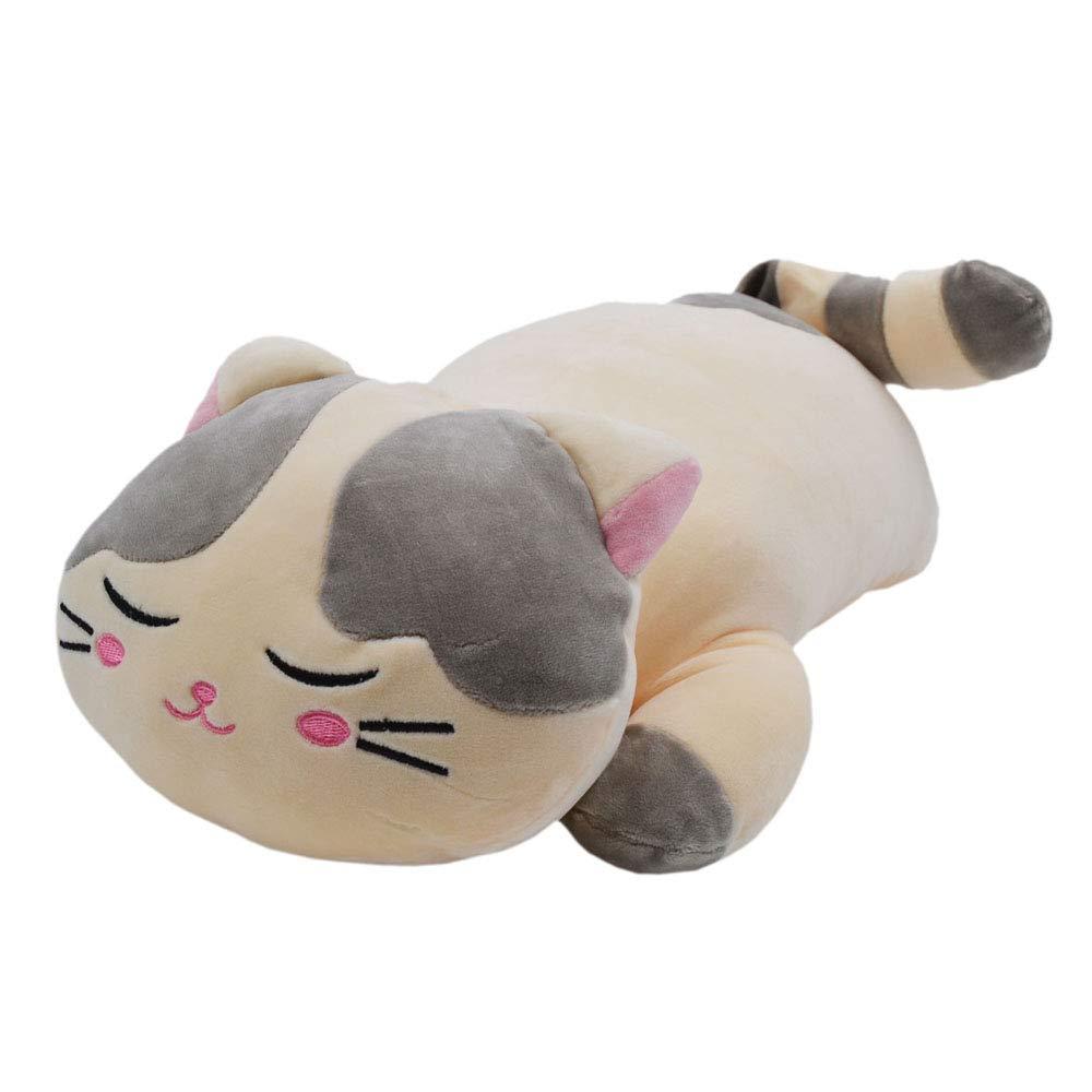 MassJoy Very Soft Cat Big Hugging Pillow Plush Kitten Kitty Stuffed Animals Gray by MassJoy