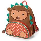 Skip Hop Zoo Toddler Kids Insulated Backpack Hudson Hedgehog Boy, 12-inches, Brown