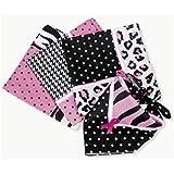 Fun Express - Sassy Pink Ribbon Bandannas Breast Cancer Bandanas (1-Pack of 12)