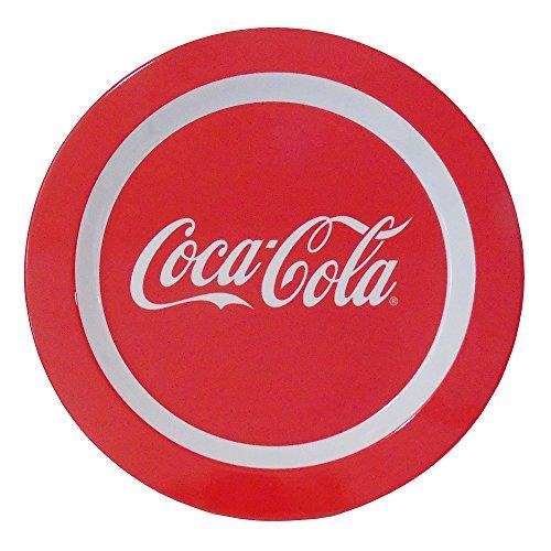 Coca Cola Dinner (Red Coca-Cola Script Melamine Dinner Plate 10.5 Inches)